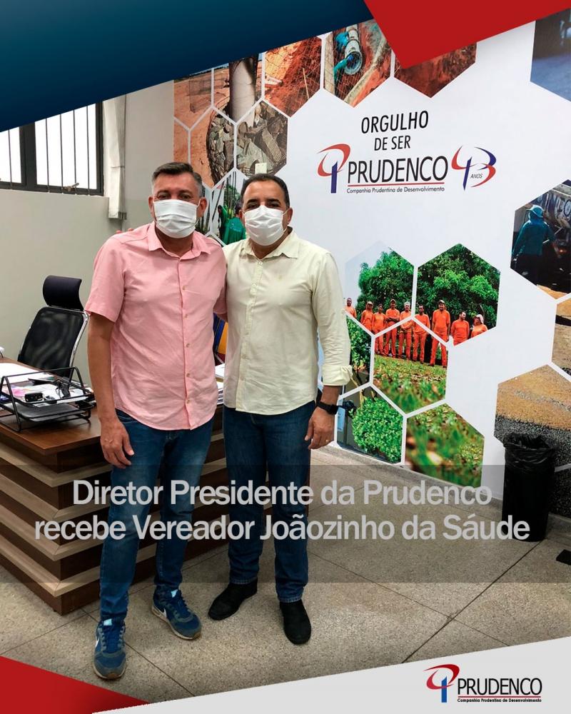 Vereador Joãzinho da Saúde visita a Prudenco