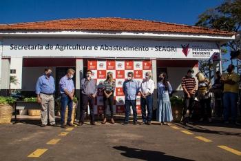 Presidente da PRUDENCO prestigia inauguração da Secretaria da Agricultura e Abastecimento