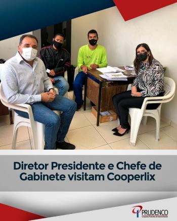 Diretor Presidente e Chefe da Gabinete visitam Cooperlix
